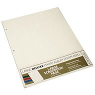 Crystal 3-ring Large Deluxe Scrapbook Page Refills Creme - Creme Refill