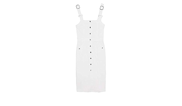Zara 6164/152/250 - Vestido Vaquero con Tirantes para Mujer ...