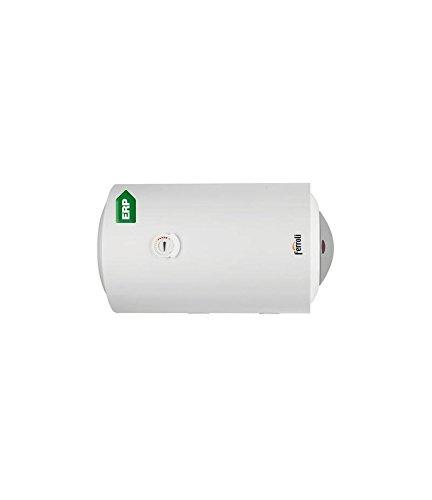 Calentador de agua horizontal de acero de alta calidad, aislado internamente con espuma de poliuretano. Resistencia eléctrica desmontable de cobre.