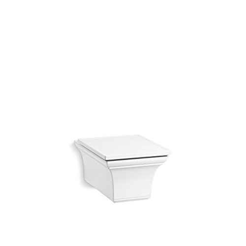 KOHLER 6918-0 one-Piece Memoirs elongated dual-flush wall-hung toilet, White