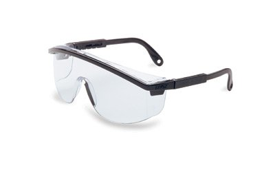 Uvex By Sperian Astrospec 3000(R) Safety Glasses With Nylon Black Frame, Clear Polycarbonate Ultra-dura(R) Anti-Scratch Hard Coat Lens And Duoflex (Coat Clear Lens)