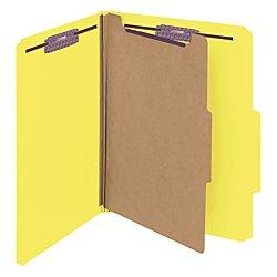 Smead Pressboard Classification File Folder with SafeSHIELD Fasteners, 1 Divider, 2