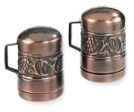 Old Dutch International Antique Embossed Stovetop Salt & Pepper Set, 4-Inch (Dutch Antique Old)