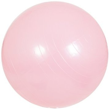 Therapist's Choice® Fitness Anti-Burst Exercise Ball: 55cm - For Fitness, Therapy, Sports Training, Yoga and More (55 CM Pink)