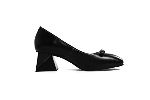 Shoes Urethane Bows APL11191 Dress Womens Pumps Black Bows BalaMasa ITYqY