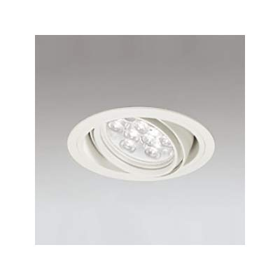 LEDユニバーサルダウンライト M形 φ125 HID35W形 LED9灯 配光角14°連続調光 オフホワイト 温白色形 3500K B07RYQGSP2