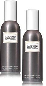Bath and Body Works 2 Pack Mahoganny Teakwood Room Spray 1.5 Oz.
