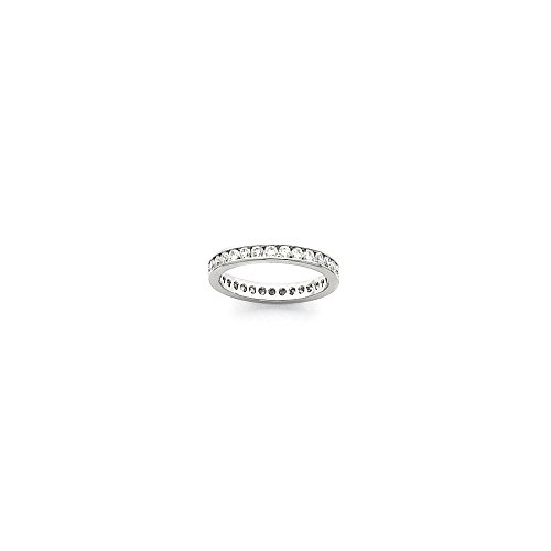 Platinum 2.8mm Wide Size 8 Eternity Band Mounting, Best Quality Free Gift Box - Base Only, No Stones - Eternity Band Mounting