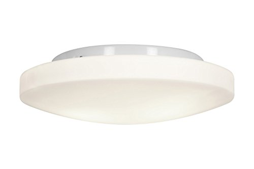 Access Lighting 50161-WH/OPL Orion Three Light 13-Inch Diameter Flush Mount with Opal Glass Shade, White Finish