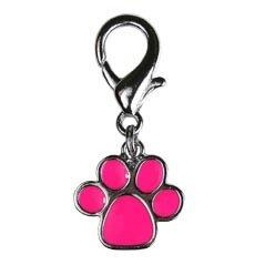 OmniPet Pawprint Fancy Enamel Dog Collar Charm, Pink