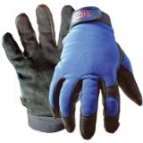 Boss Gloves 890M Medium Black and Blue Boss Guard Leather Gloves