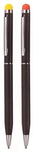 Hauser Duet Stylus Metal Body Ball Pen  Pack of 2