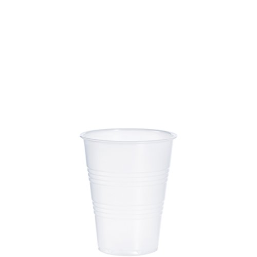 Dart Y9 9 oz Trans Ribbed Wall PS Cup (Case of - Conex Plastic Dart Clear Cup