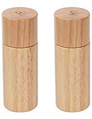 (KKC Salt and Pepper Grinder Set Wood,Salt and Pepper Mills Set with Ceramic Core, 5.9 inches, 2 Piece Set)