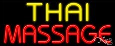 Thai Massage Business Neon Sign - 13 x 32 x 3 inches - Made in USA