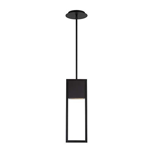 Black 18 Inch Outdoor Pendant - WAC Lighting PD-W15918-BK DweLED Archetype 18in LED Indoor & Outdoor Pendant in Black Light Fixture, (Renewed)