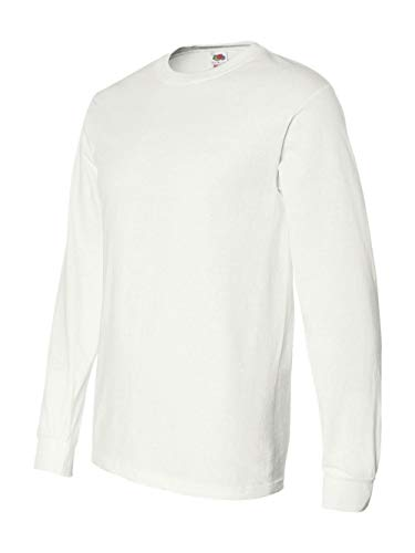 - Fruit of the Loom Adult 5 oz. Long-Sleeve T-Shirt, White, XL