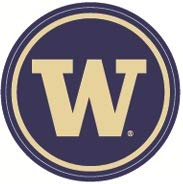 (2 Inch UW W University of Washington Huskies Logo Removable Wall Decal Sticker Art NCAA Home Room Decor 2 1/4 Inches)