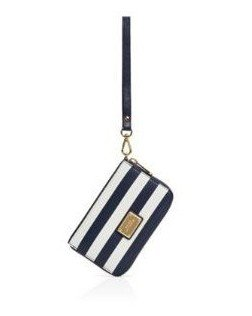 9460f24274e194 Michael Kors Essential Zip Wallet for Iphone 5 Navy Blue & White Stripe:  Amazon.co.uk: Electronics