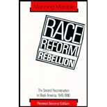 Race, Reform and Rebellion : The Second Reconstruction in Black America, 1945-1990, Marable, Manning, 0333564332