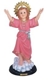 24 Inch Holy Child on a Cloud with Glass Eyes Religious Statue Decor