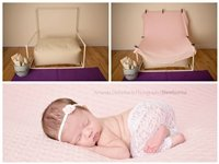 STARTER SET #5 ~ Rectangulum Poser W/ PVC Backdrop stand ~ NEWBORN PHOTO PROP by Posey Pillow