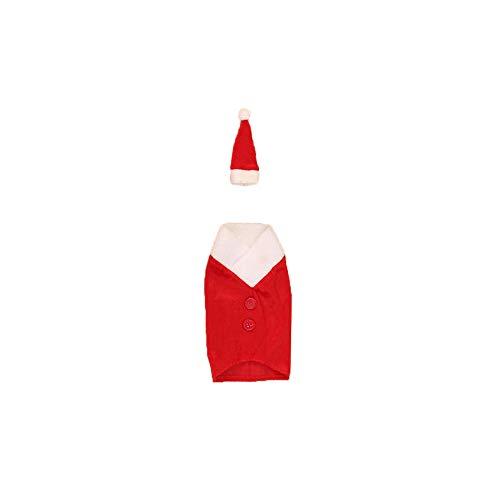 Fheaven Christmas Wine Bottle Cover Bags,Xmas Decoration Home Party Santa Claus Wine Bottle Sets (A)