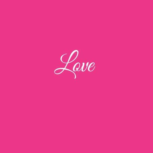 Libro De Visitas Love para bodas decoracion accesorios ideas regalos matrimonio eventos firmas fiesta hogar invitados boda 21 x 21 cm Cubierta Rosa (Spanish ...