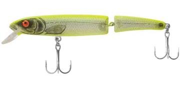 (Bomber Saltwater Grade Jointed Magnum Long A - Silver Flash/Chartreuse Back)