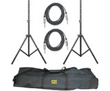 Heavy-Duty Pro Audio Speaker Stand & .25'' Cable Kit - PYLE PRO