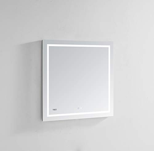AQUADOM Daytona, 30in x 30in x 1.5, Wall Mounted, LED Mirror, 3D, -