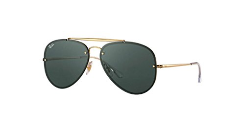 Ray-Ban Blaze Aviator Sunglasses, Gold, 61 - Ray Blaze Aviator Ban