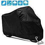 Motorcycle Scooter Cover Waterproof Outdoor - Large Medium XL 250cc 150cc 50cc Scooter Shelter for Harleys All Weather Motorbike Protection with Lock Holes Tear-proof Heavy-Duty by opamoo
