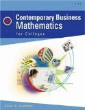 Contemporary Business Mathematics for Colleges, Deitz, James E. and Southam, James L., 0324318022