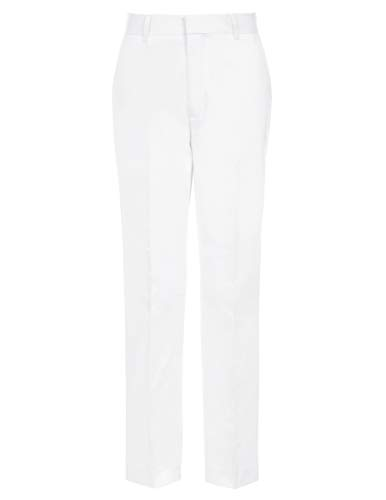 Tommy Hilfiger Boys' Big Flat Front Twill Dress Pant, fine White 12 (Boys Dress Twill Pant)