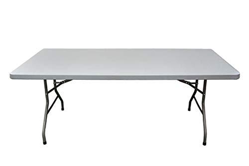 Mesa rectangular 200x90x74 para exterior e interior. Cualquier tipo de celebracion y evento. Mesa con patas plegables para hosteleria y catering.