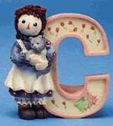 Raggedy Ann and Andy - C Is For Cat decorative letter ()
