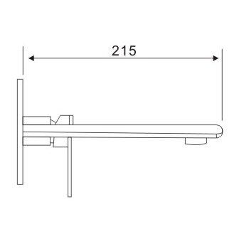 Robinet mitigeur mural à encastrer 2 trous pour vasque 4508c ...