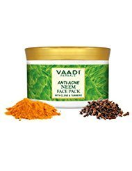 Vaadi Herbals Anti-Acne Neem Face Pack With Clove & Turmeric Herbal Face Pack All Natural Sulfate Free Suitable For All Skin Types 600 Gms (21.16 (Neem Face Pack)