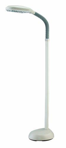 Verilux Original Natural Spectrum Deluxe Floor Lamp, Ivory