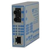 Omnitron FlexPoint 4357-21 Fast Ethernet Media Converter - 1 x RJ-45 Network, 1 x SC Network - 10/100Base-TX, 100Base-FX - Wall-mountable, Rack-mountable, Rail-mountable, External - 20 km