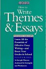 How to Write Themes, Essays, Titelbaum, Harry, 0671870572