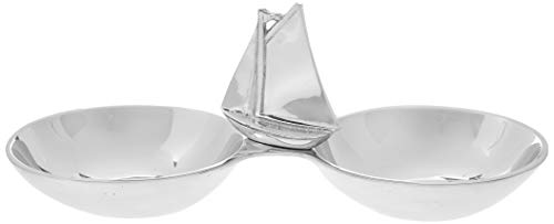 MARIPOSA Sailboat Double Nut Dish, Silver