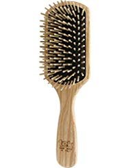 (Tek paddle hairbrush in ash wood with regular pins - Handmade in Italy)