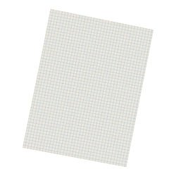 Pacon 2862 Quadrille-Ruled Heavyweight Drawing Paper, 1/4