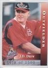 Drew Traveler (J.D. Drew #1479/1,500 (Baseball Card) 1999 Arkansas Travelers Highlight Series Team Issue - [Base] #1)