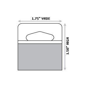 1-3/4'' X 1-1/2'' Slot Holed Adhesive Hang Tabs 1000/Pack