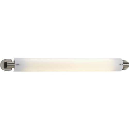 Progress Lighting P7237-09 Two-Light Linear Fluorescent with White Acrylic Diffuser and Stylish Brushed Nickel