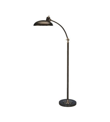 Robert Abbey 1847 Lamps with Lead Bronze Metal Shades, Lead Bronze/Ebonized Nickel Finish (Robert Lamp Nickel Abbey Antique Floor)