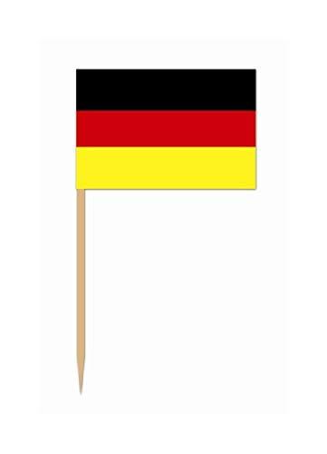 Bargain World German Flag Picks (50/pkg) (with Sticky - Flag German Picks